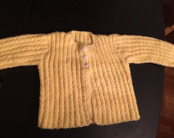 Baby Sweater 0-6 months, Baby Clothes, Baby Sweater, Sweater, Hand made, Knitted, Children's Clothing