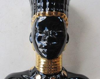 MCM Nubian Princess Vase