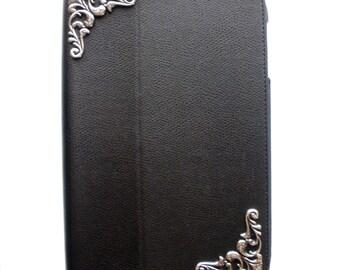 iPad mini 2 Case Art Nouveau Case Perfect Gift Faux Leather iPad mini Case Stylish Accessory Black Faux Leather iPad mini Case For iPad Mini
