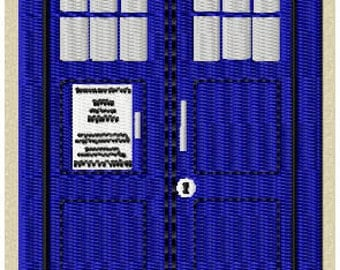Police Box Embroidery Design (Large)