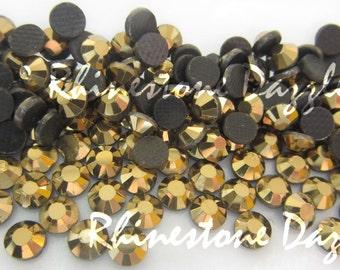 ss16 Gold Hotfix Rhinestones, 4mm Gold Hotfix Rhinestones, 100pcs, 250pcs, 500pcs, 750pcs, mine gold rhinestones