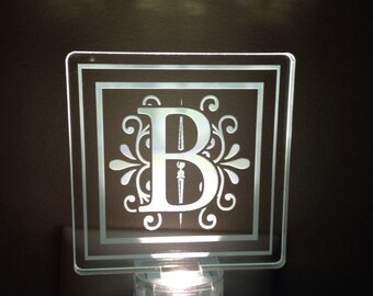 Monogram nightlight
