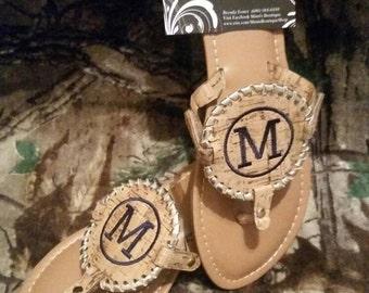 Flash Sale, Personalized Cork Disk Sandal, Personalized Sandal, Cork Sandal, Disc Cork Sandal, Size 7
