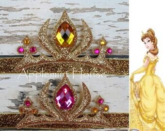 Princess Belle Crown,Princess  Crystal Tiara Headband,The Beauty And The Beast Belle Crown, Belle Tiara Headband,baby Belle Crown