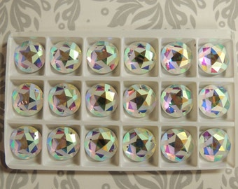 18mm AB Frosted Star sew on crystals