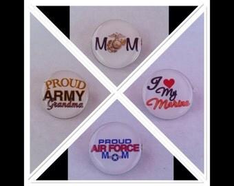 Army, Navy, USMC, Air Force Pins
