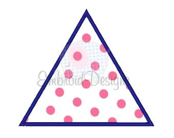 Triangle Applique Machine Embroidery Design 034114 Applique 2X2 4X4 5X7 6X10 Instant download