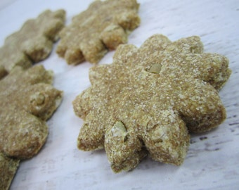 Sunny Sunflowers Gourmet Dog Treats ~ Homemade All Natural Bakery Dog Biscuits ~ Sunflower Shaped Dog Cookies Healthy Dog Snacks ~ USA Made