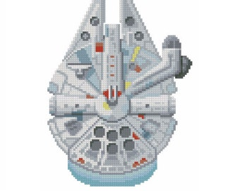 cross stitch pattern Millennium Falcon