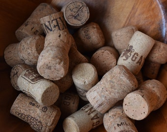 25 Used Champagne Corks #1   - All Natural Recycled Champagne Corks
