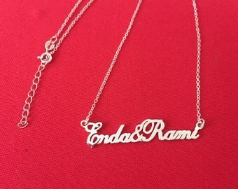 Customized Necklace Valentine gift 925 sterling silver necklace
