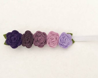 Ombre Felt Flower Crown