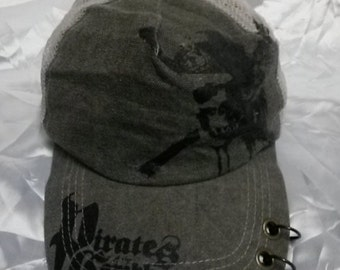 Pirates Of Carribean Jack Sparrow Movies Cap Hat  90s 80s