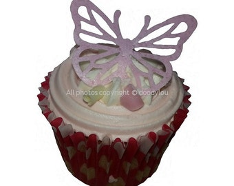 12 Large Edible Butterfly Cupcake Cake Topper Decorations Flavoured & Precut
