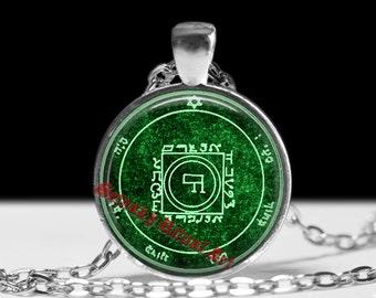 Fifth pentacle of Venus pendant, passion & desire talisman, Solomon Seals, ritual necklace, occult jewelry, ceremonial magick, lamen #103