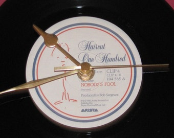 "Haircut One Hundred nobody's fool  7"" vinyl record clock"
