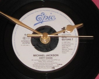 "Michael Jackson Dirty Diana 7"" vinyl clock"