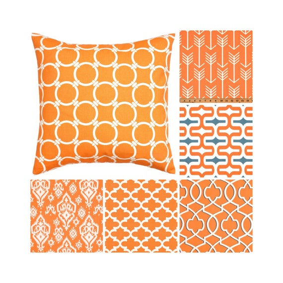 orange throw pillow cover orange grey toss pillows decorative. Black Bedroom Furniture Sets. Home Design Ideas