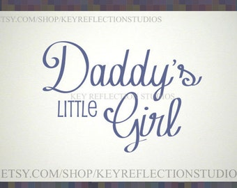 Daddy's Little Girl wall decal