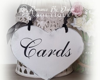 Cards Gift Wishing Well Heart Shaped Wedding Sign