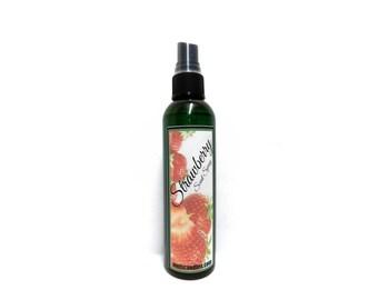 Strawberry 4oz bottle of Body Spray, Scent Spray, Room Spray - Many Uses