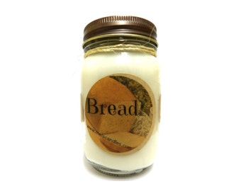 Fresh Baked Bread 16oz Country Jar Handmade Soy Candle Aprox Burn time 144 hours
