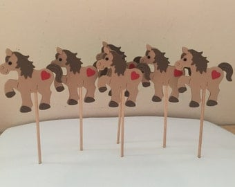 Horse cupcake toppers, Pony cupcake toppers, Cupcake Toppers, cupcake decorations, Cupcakes