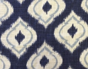 Indigo Moroccan Fabric - Drapery Fabric -  Fabric By The Yard