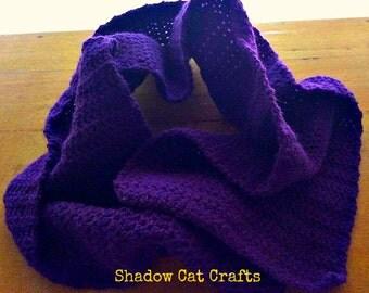 Harvest Holiday Organic Zero Waste Purple Crochet Scarf