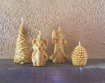 LOT Christmas Beeswax candles