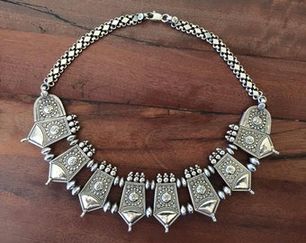 Vintage Silver Tribal Collar India early 1900's
