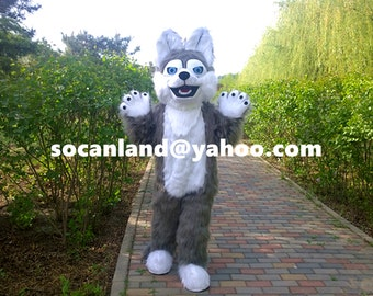 Wolf Fursuit,Wolf Fur Suit,Wolf Cosplay,Wolf Mascot Costume,Wolf Adults Costume,Wolf Cosplay Costume,Wolf Adults Clothing,Wolf Party Costume