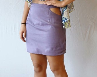 Cut Out Pencil Skirt