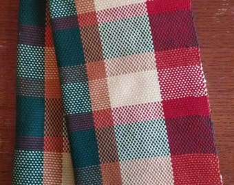 Tea Towels /  Dish Towels Pair of Hand Woven Cotton