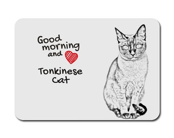 Tonkinese cat, A mouse pad with the image of a cat. Collection!