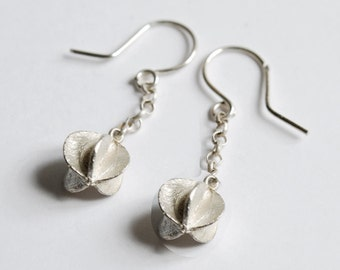 Silver earrings 'seed'