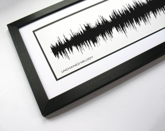 Unchained Melody - Music Sound Wave Wall Art