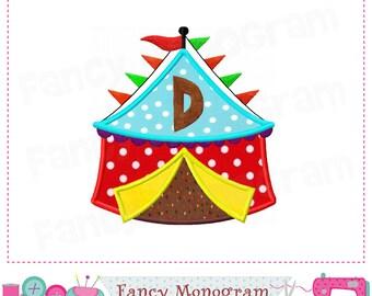 Circus tent Monogram D applique,Tent Letter D applique,D,Easter,Birthday Letter D applique,Circus tent applique,Easter applique.01