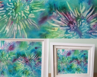 Passion Flowers Original Mixed Media Painting