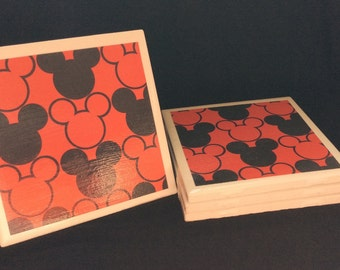Mickey Mouse Coasters - Set of 4