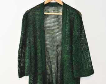 Sparkly Green Mesh Cardigan