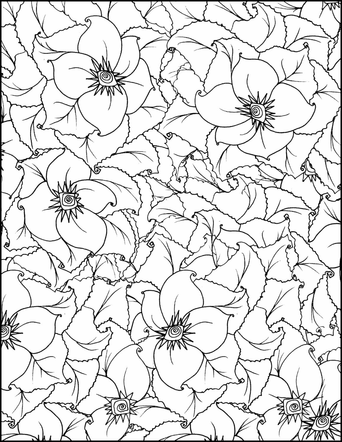 whimsical flowers coloring pages - photo#19