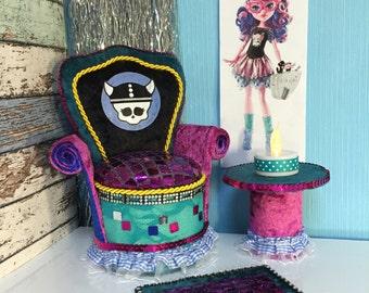 Furniture for Barbie Doll Monster High Kjersti Trollson