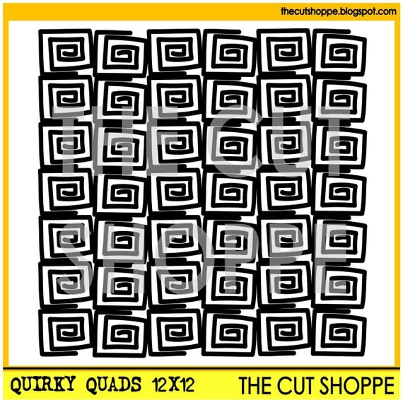 The Quirky Quads background cut file is available in 8.5x11 & 12x12 sizes for your scrapbooking and papercrafting projects.