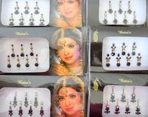 4 Packs -28 Black/Golden Bindis Bollywood face jewels tikka bridal self adhesive forehead decoration party festival Wedding tikka