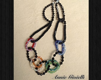 Necklace fashion necklace-crystals means-Bijoux-Jewelry-chic Necklace