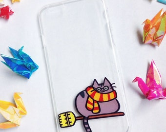 Hand painted Harry Potter phone case, iPhone 6 case, iPhone 6s case, iPhone 7 case, Cat phone case , Samsung Galaxy S7 Edge Case