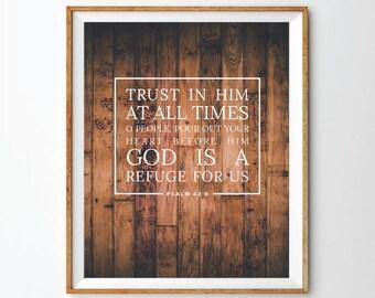 Psalm 62:8 Print