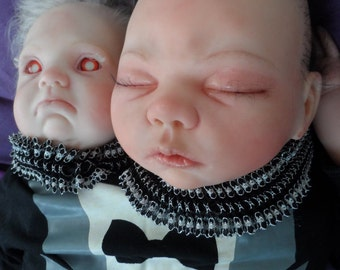 Conjoined Twin, Reborn freakshow baby doll.