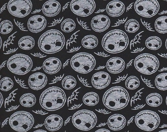 Black Skull Nightmare before Christmas inspired Jack Skellington
